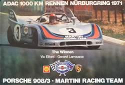 Porsche Poster 'ADAC 1000 km Rennen Nürburgring' from