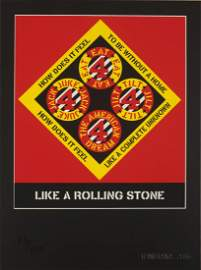 """Robert Indiana, """"Like a Rolling Stone Suite Book and"""