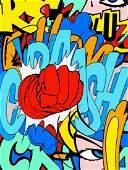 """Crash Mattos,""""Breaking Through"""",2012, Silkscreen on"""