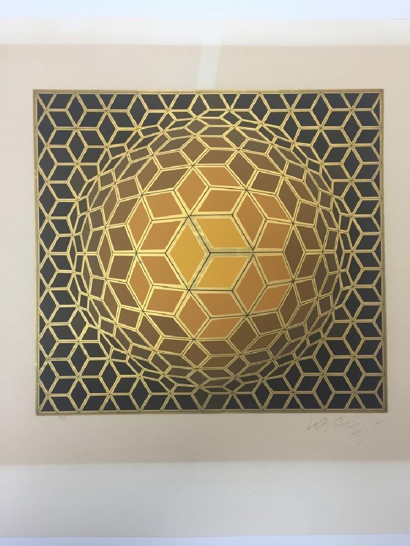 "Victor Vasarely,""HEXA-FRA"",Work on paper"