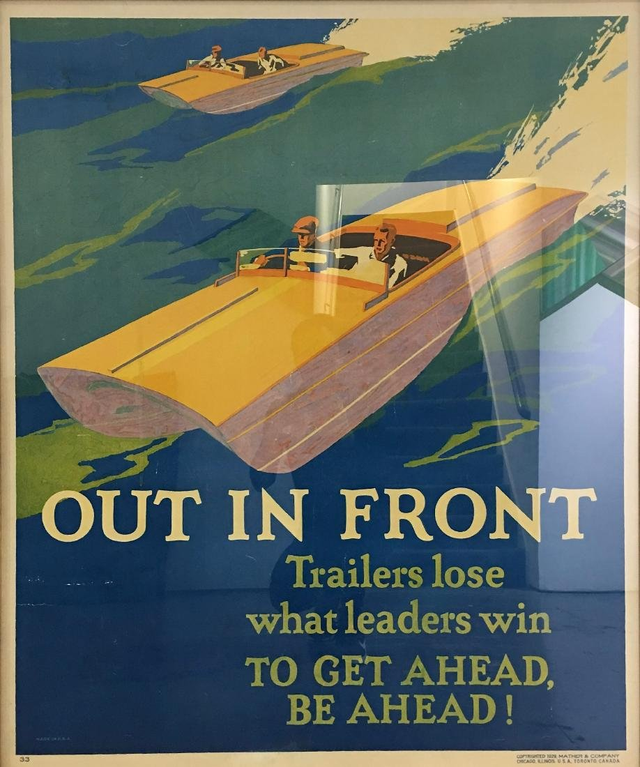 "Poster,""Out in Front"", 43 x 37 inches (unframed)"