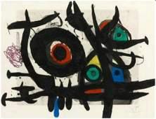 """Joan Miro,""""L'Oiseau Destructeur"""",1969,Etching and"""