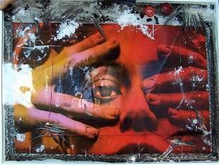 Raphael Mazzucco Untitled (Love) Mixed media 45 1/2 x