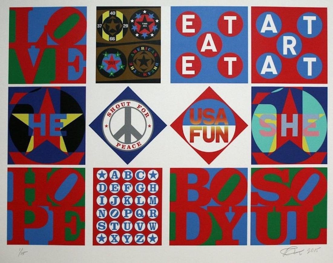 "Robert Indiana,""Retrospective"",Mixed media and"