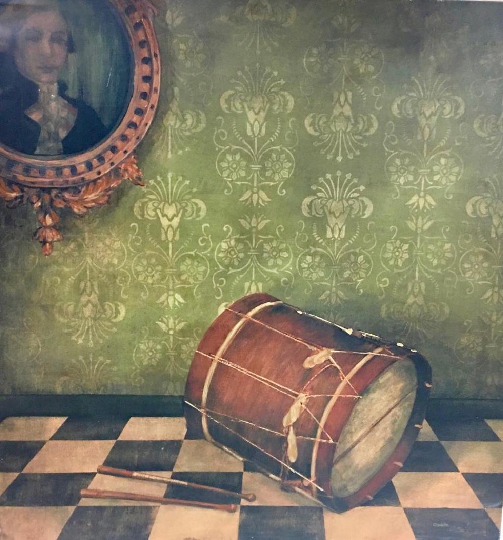 "Claudette ,""Still Life with Drum"", 43 x 45 inches"
