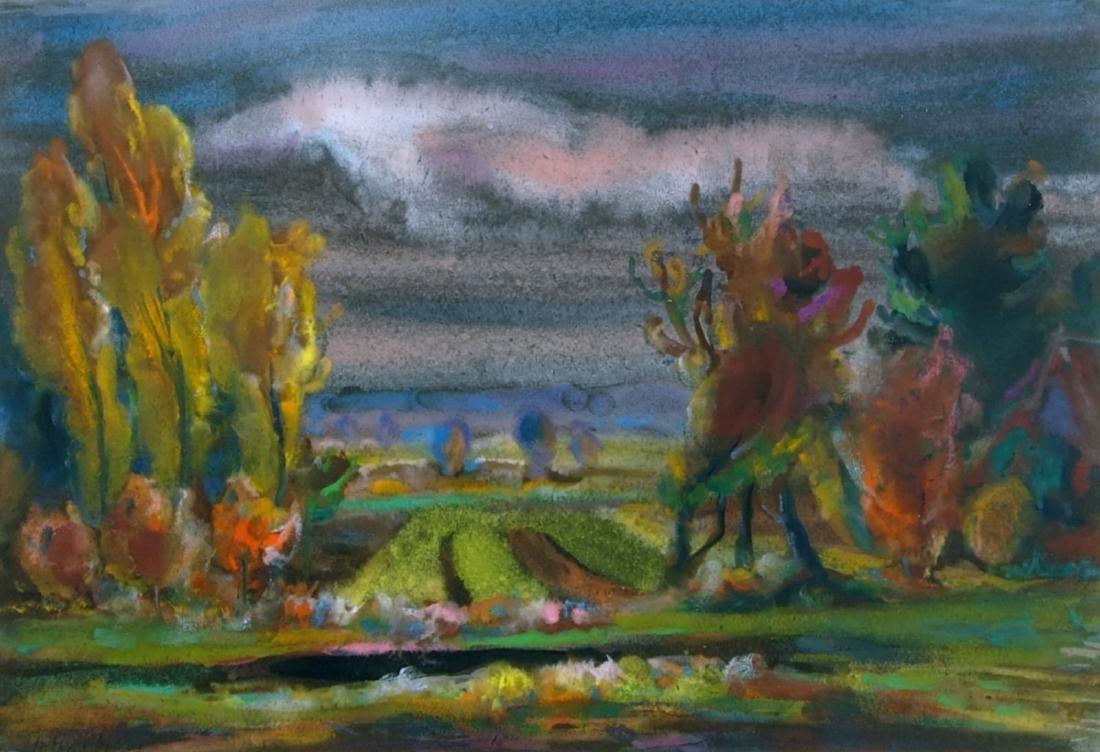 Adomas Galdikas  painting Lithuania Lithuanian