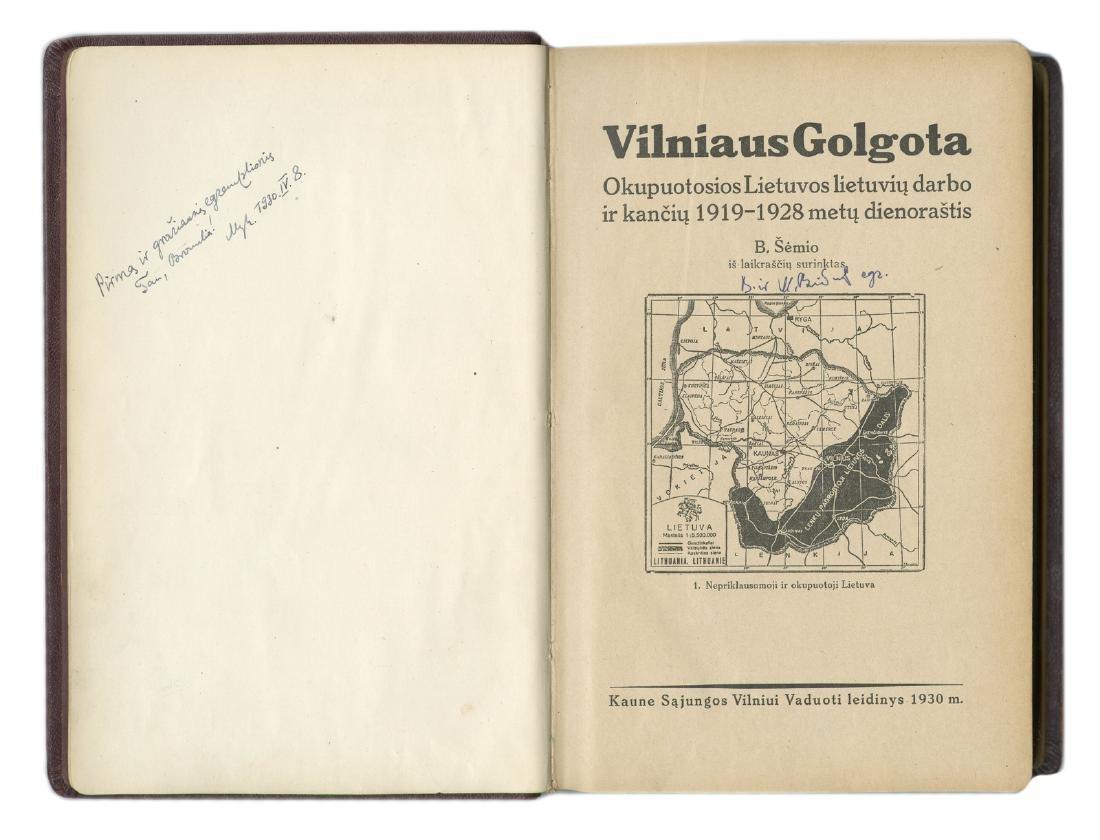 Book Mykolas Birziska 1930 Lithuania Lithuanian