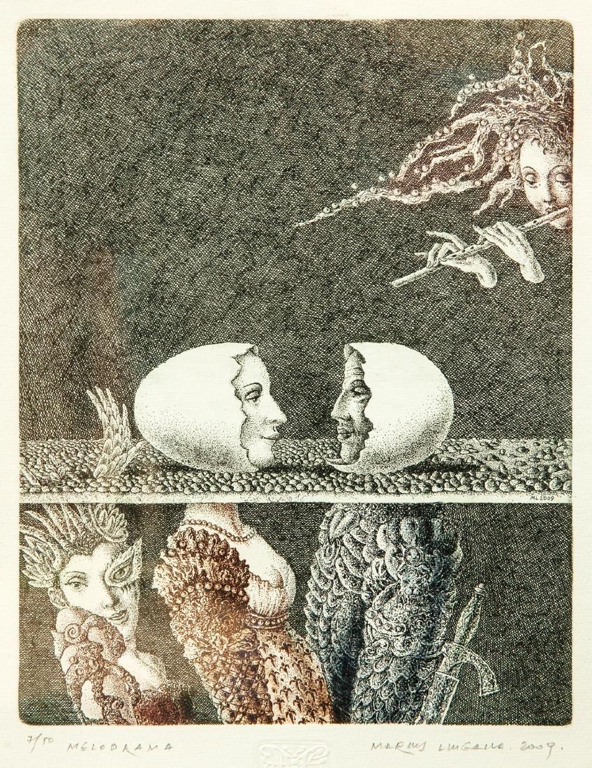 Marius Liugaila lithograph Lithuania Lithuanian