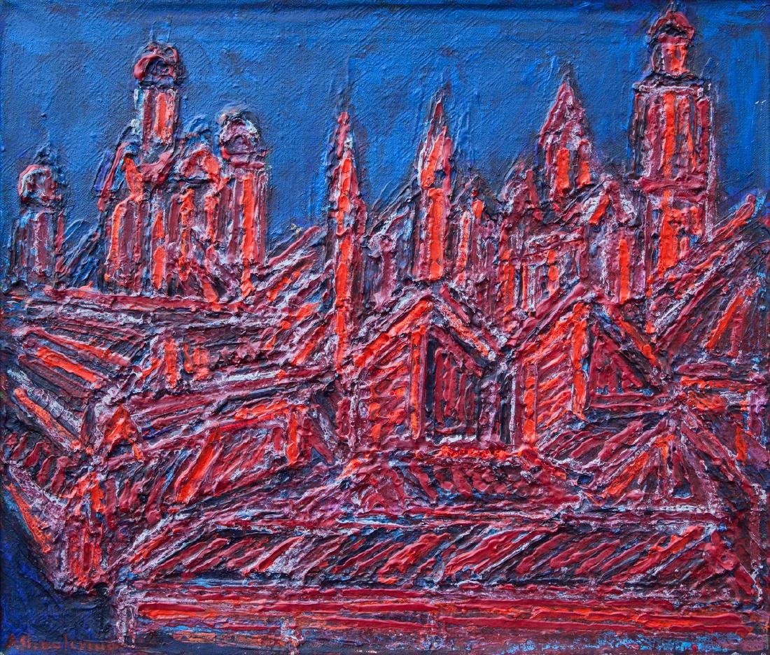 Aloyzas Stasiulevicius painting Lithuania Lithuanian