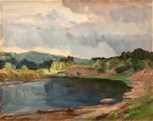 Czeslaw Znamierowski painting Lithuania Wilna