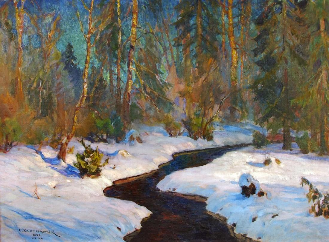 Czeslaw Znamierowski painting Lithuania  Wilna Wilno