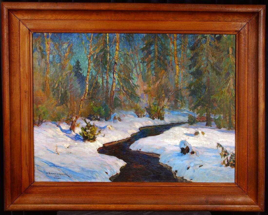 Czeslaw Znamierowski painting Lithuania  Wilna Wilno - 2