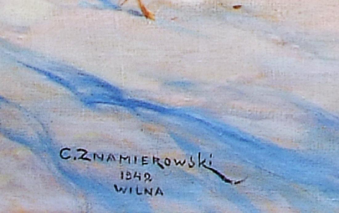 Czeslaw Znamierowski painting Lithuania  Wilna Wilno - 3