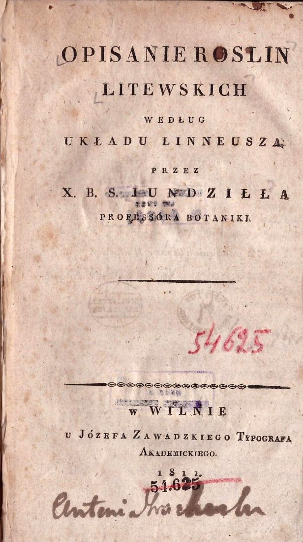 Jundzill 1811 Lithuania  Poland Polish