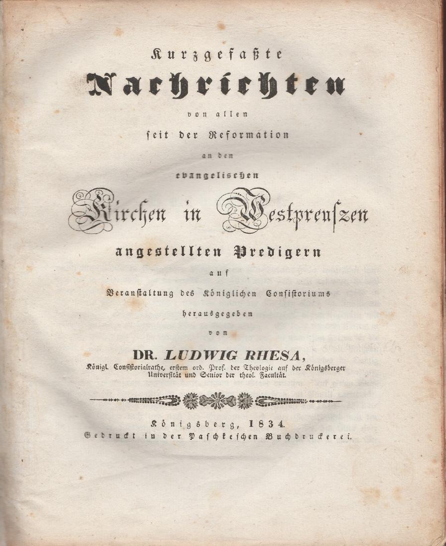Ludwig Rhesa 1834  Lithuania