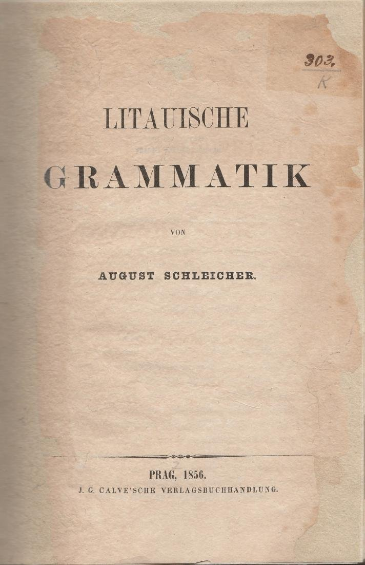 August Schleicher 1856 Lithuania