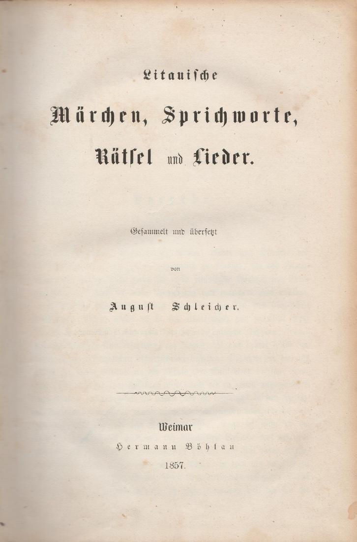 August Schleicher 1857 Lithuania