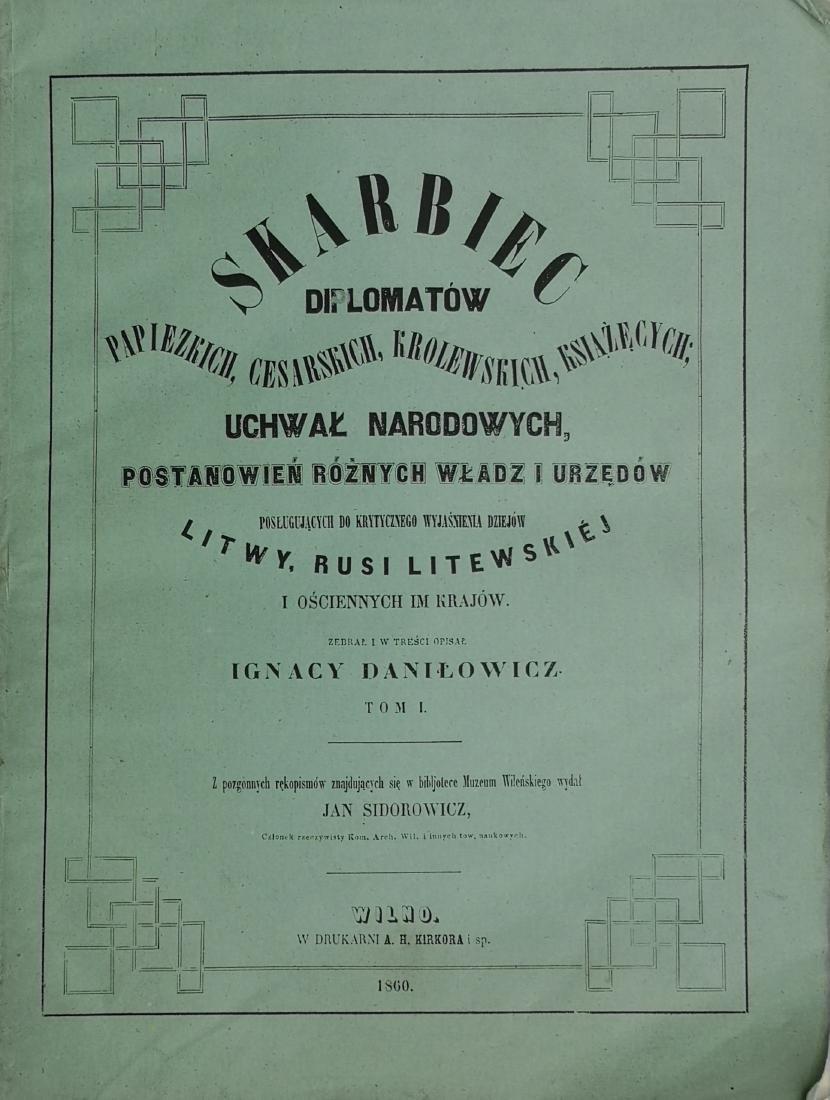 Ignacy Danilowicz 1860 Poland Polish Wilno