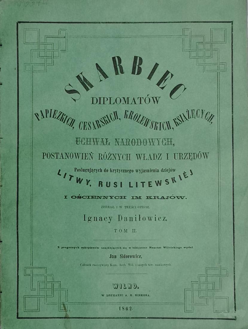 Ignacy Danilowicz 1860 Poland Polish Wilno - 2