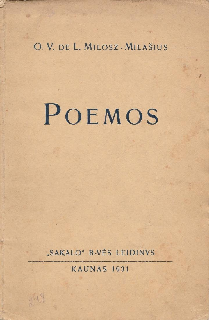 Oskar Milosz 1931 Lithuania
