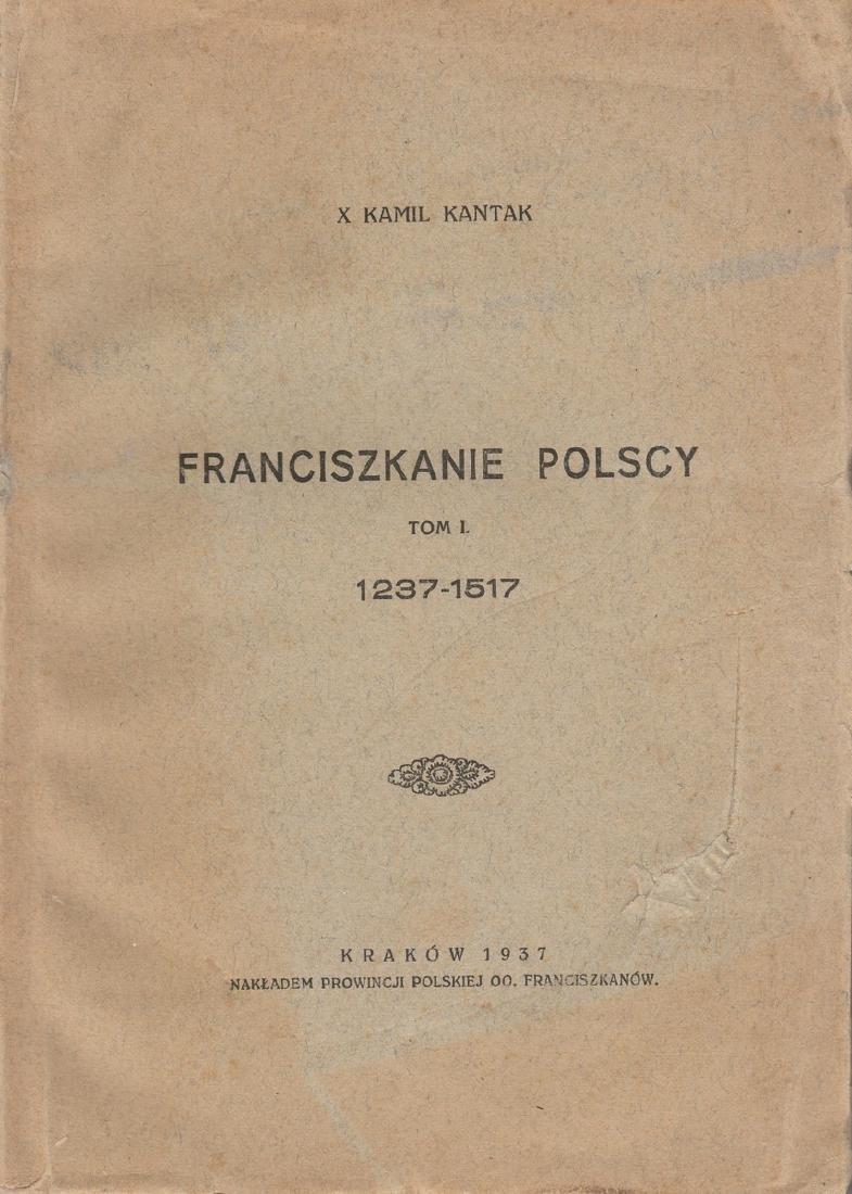 1937 Polish Poland Krakow Franciscans