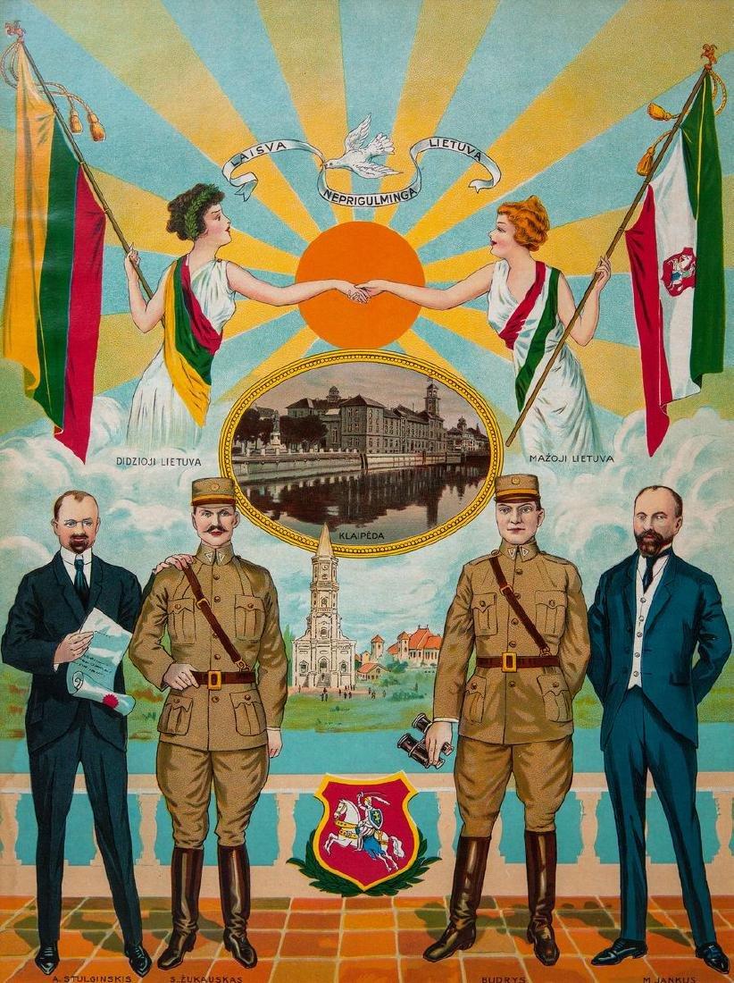 Poster Lithuania Lithuanian