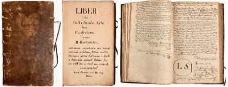 Carmelite manuscript Lithuania Lithuanian Grodno