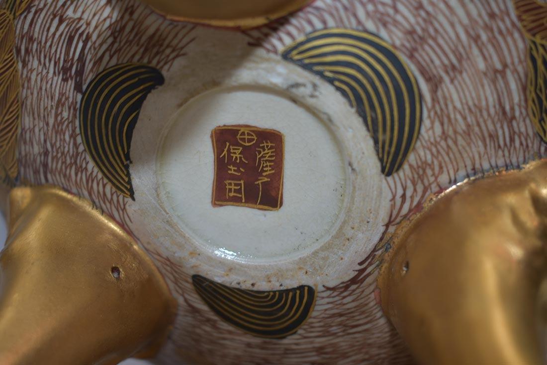 Fine Japanese Satsuma Censor Signed 19th C - 6