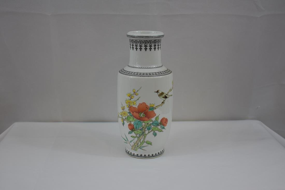 Chinese Famille Rose Vase w/ mark