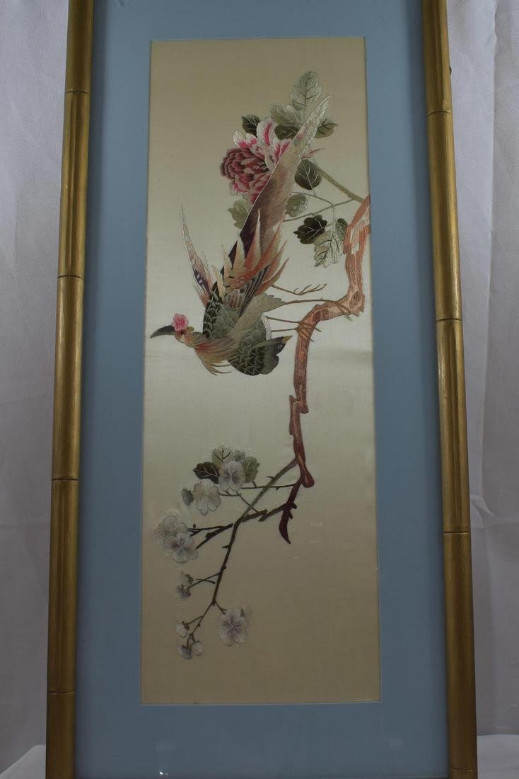 Vintage Chinese Silk Embroidery 20th c