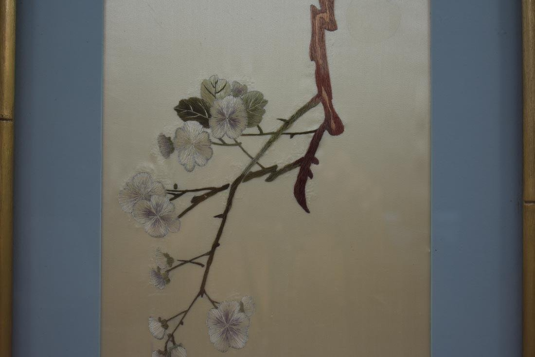 Vintage Chinese Silk Embroidery 20th c - 3