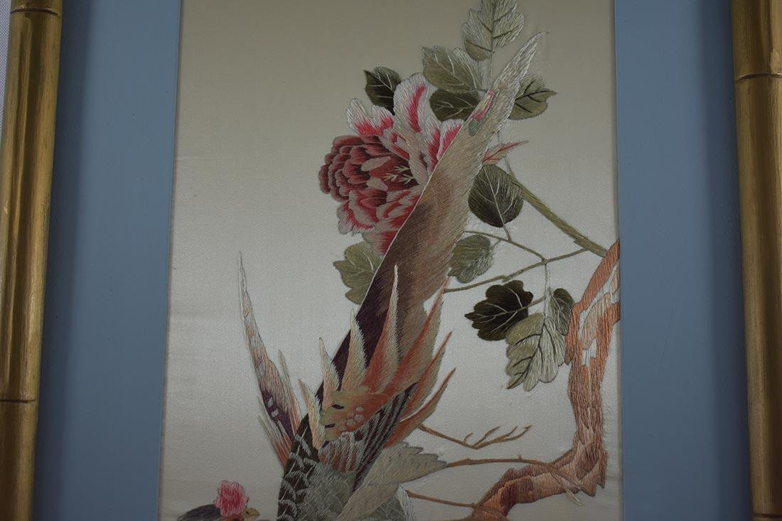 Vintage Chinese Silk Embroidery 20th c - 5