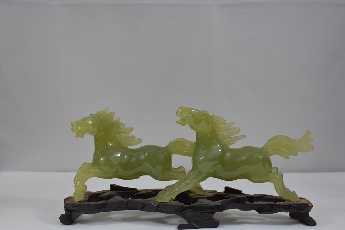 Chinese Serpentine Jade Scupture 20th c