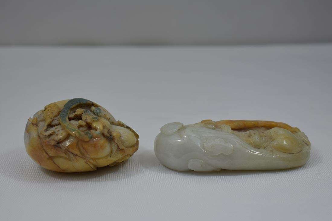 2 Chinese Hardstone Jade Carvings - 10