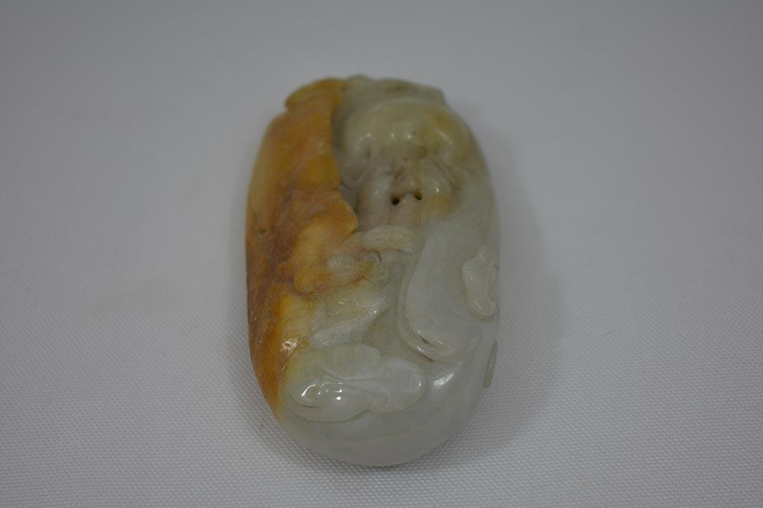 2 Chinese Hardstone Jade Carvings - 4