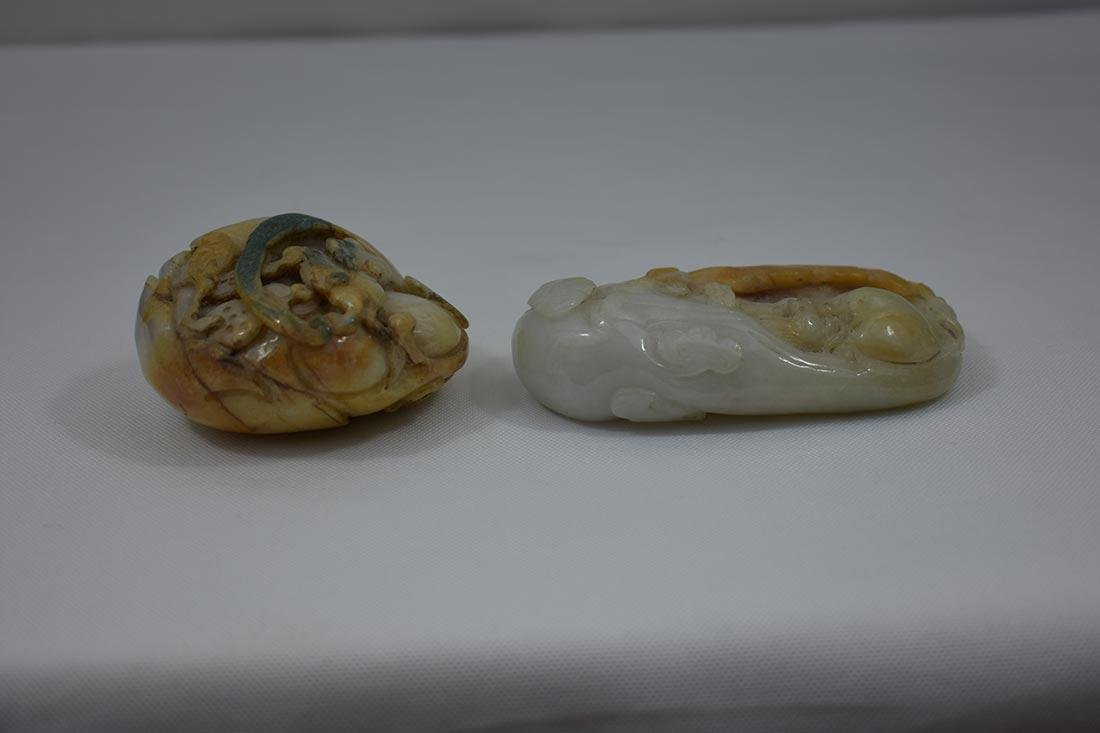 2 Chinese Hardstone Jade Carvings - 9