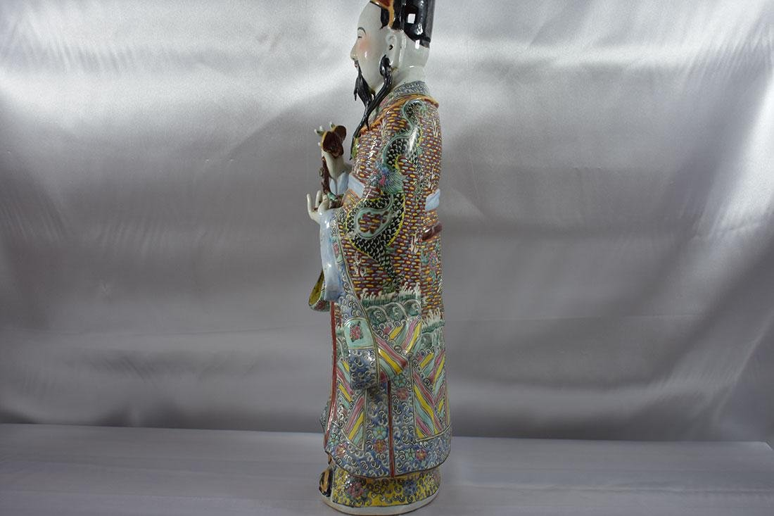 Chinese Famille Rose Figure large - 8