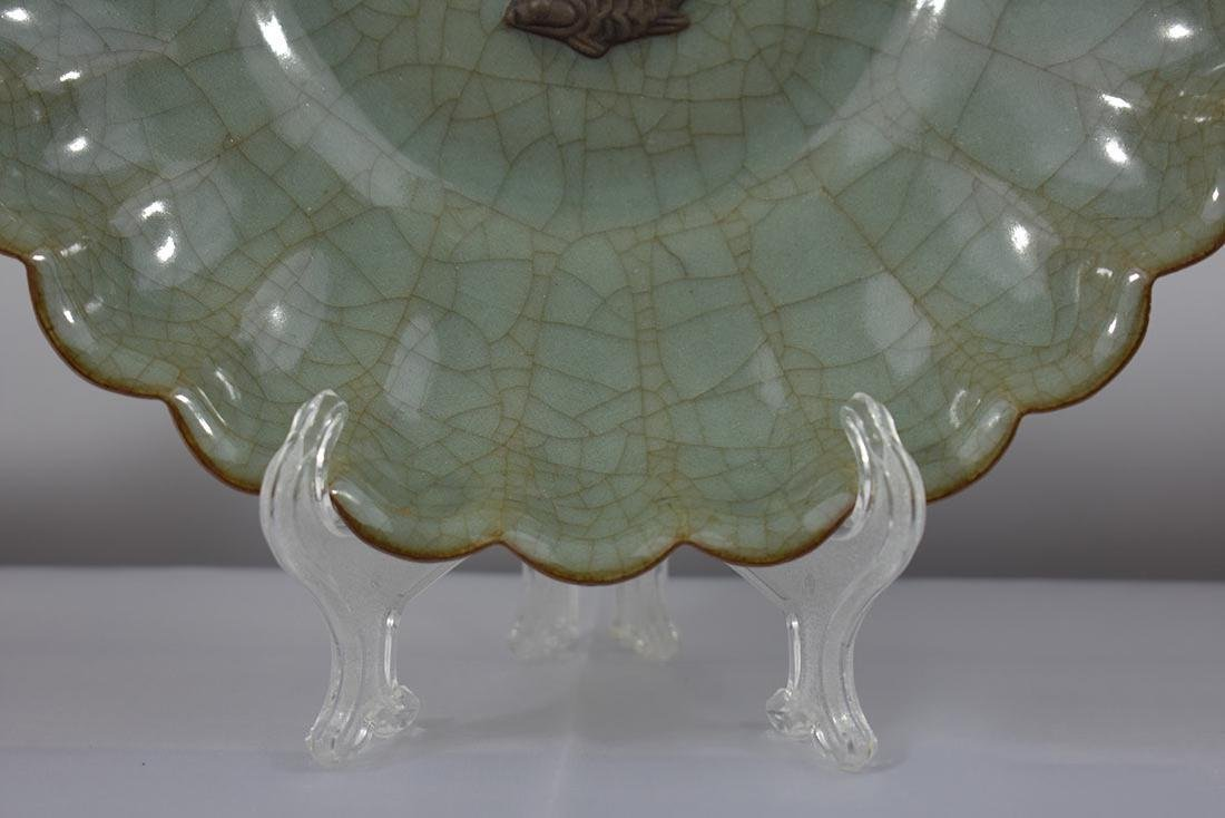 Chinese Celadon Plate - 3