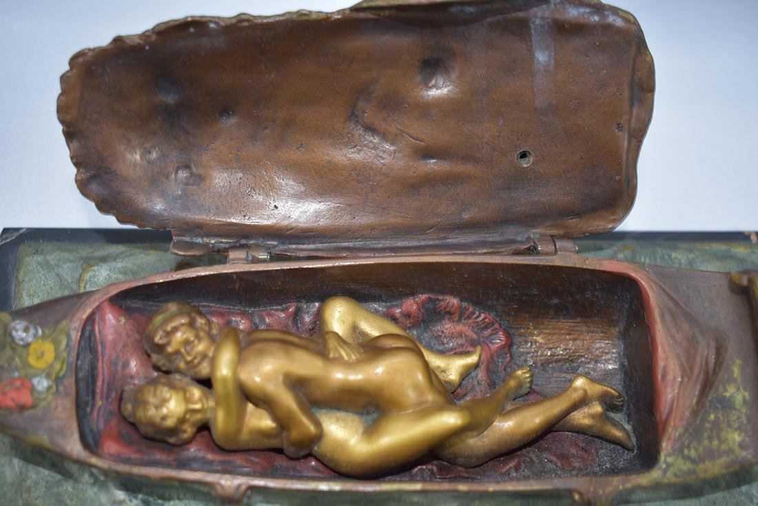 Early 20C Erotic Bergman Cold Painted Vienna Bronze - 5