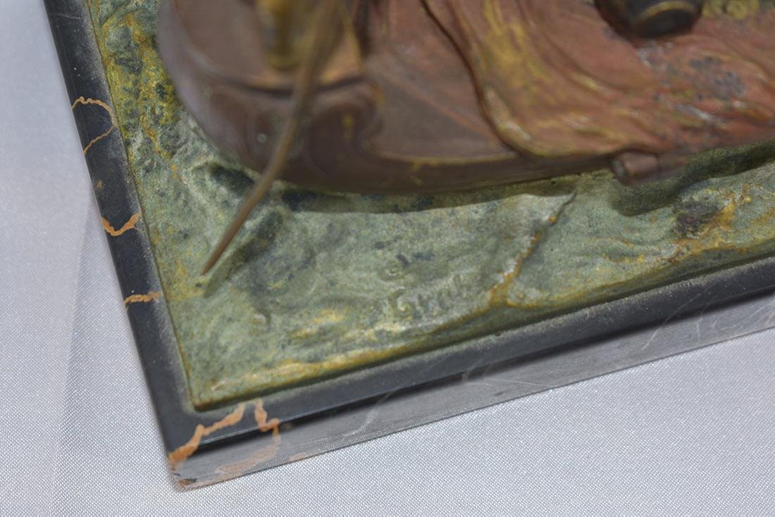 Early 20C Erotic Bergman Cold Painted Vienna Bronze - 9