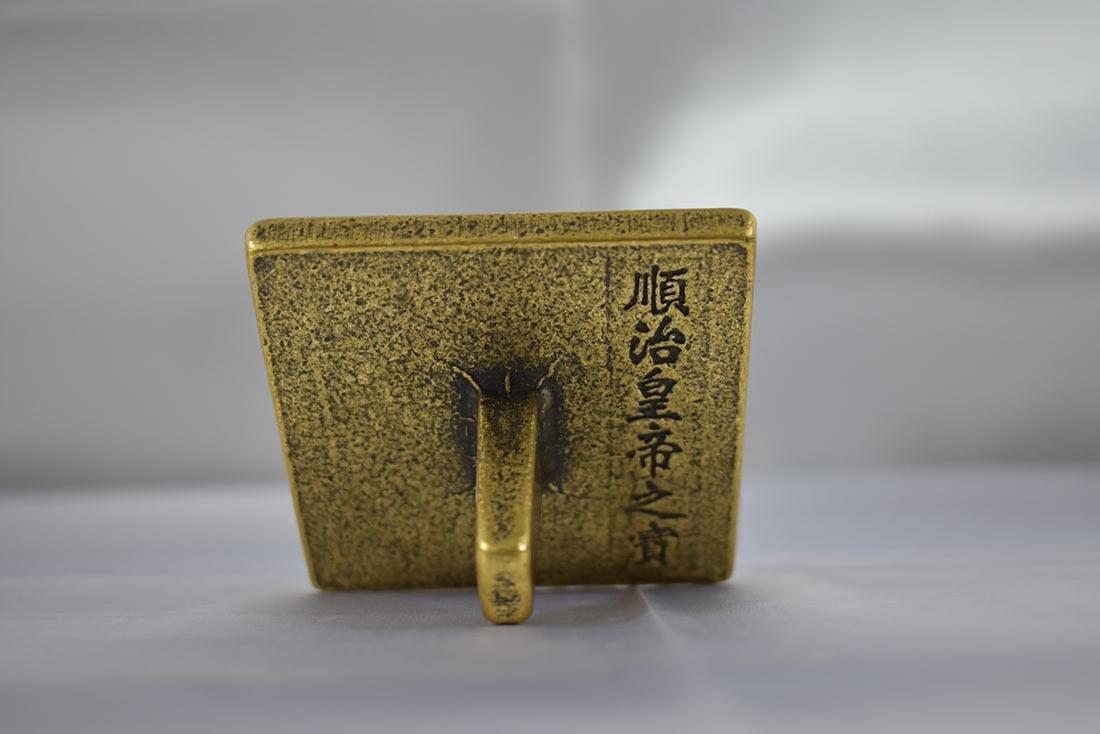 Chinese Bronze Seal w/ Mark - 2