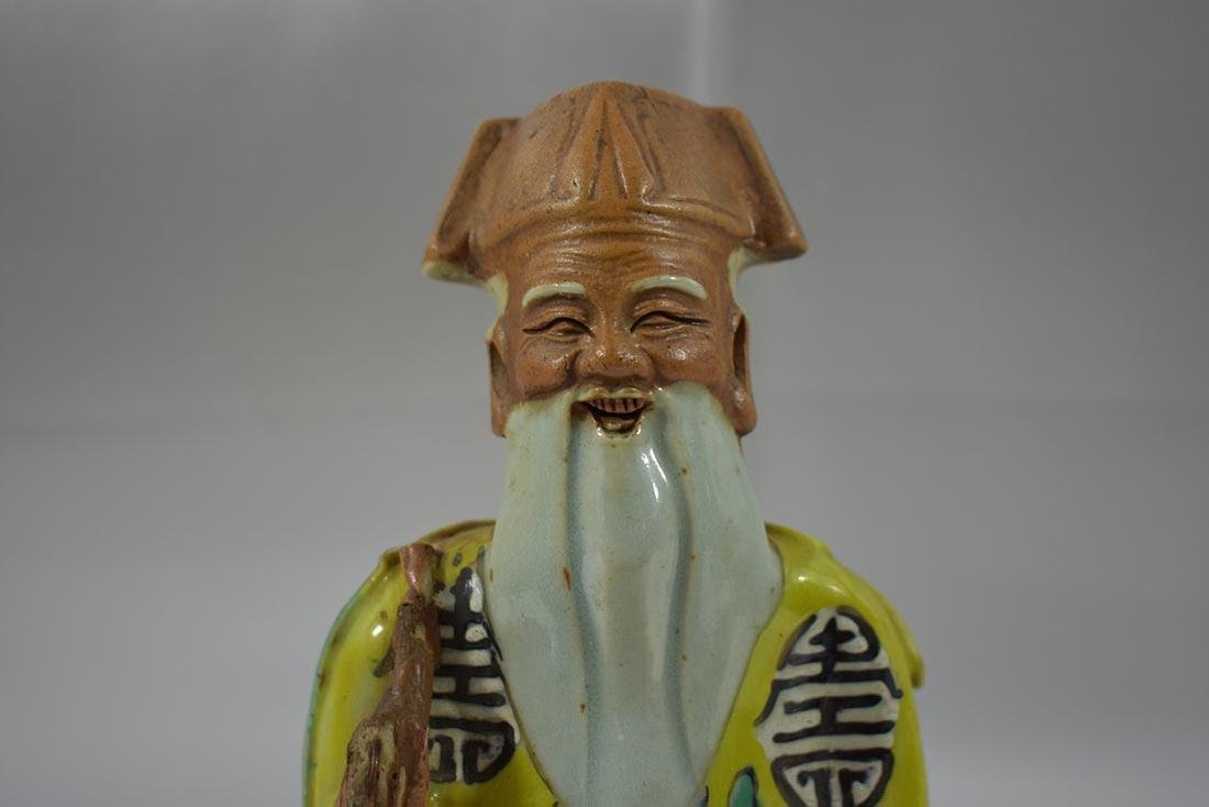 Chinese Biscuit Porcelain Figurine 18th C - 2