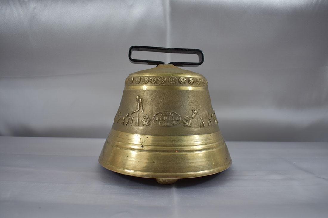 Vintage Brass Bell Gussett Uetendorf Giesserei