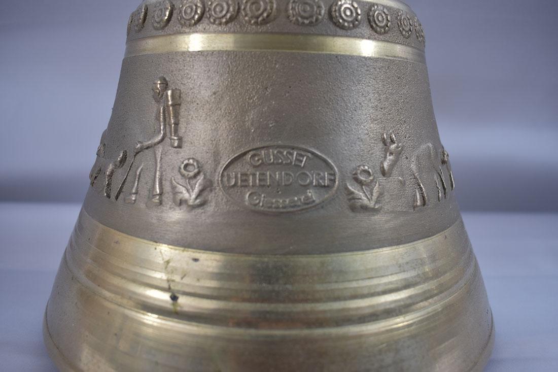 Vintage Brass Bell Gussett Uetendorf Giesserei - 2