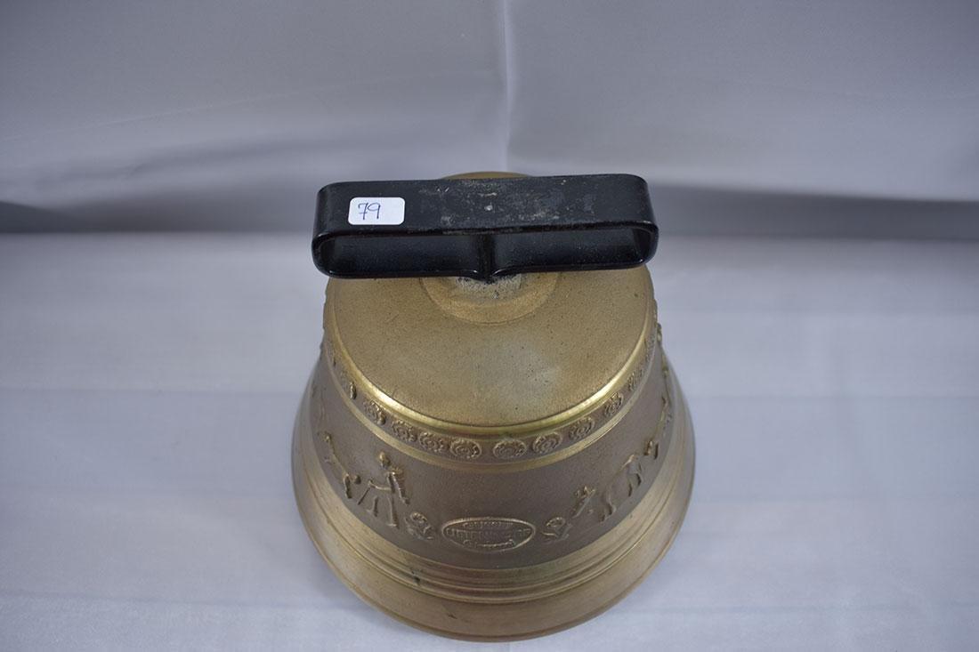 Vintage Brass Bell Gussett Uetendorf Giesserei - 3