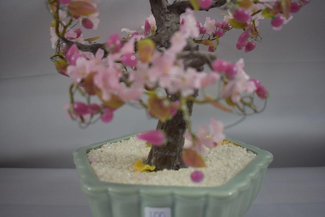 A Fine Pink Floral Asian Bonsai Tree - 2