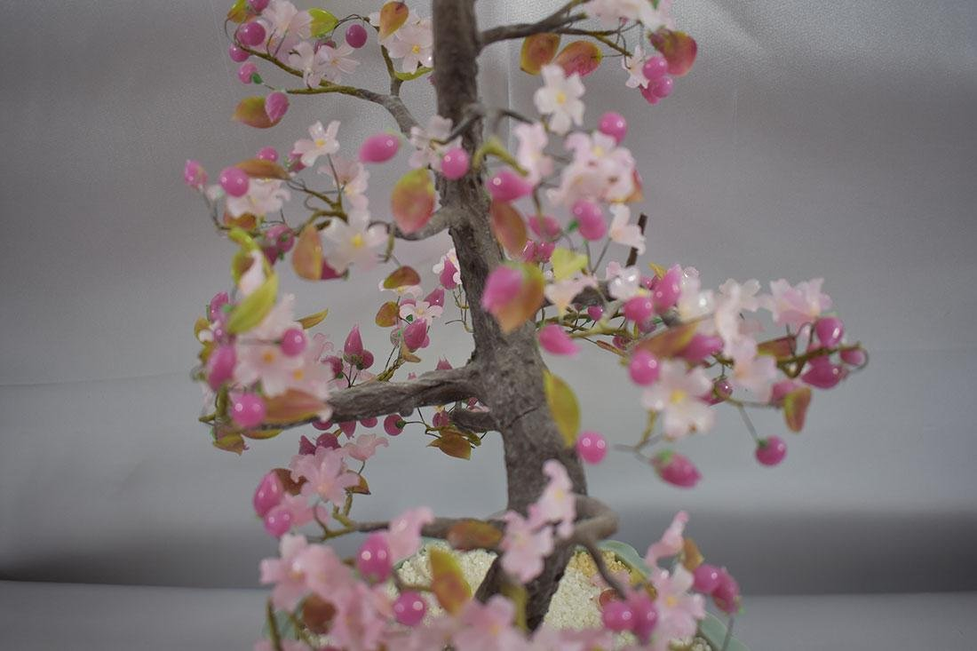 A Fine Pink Floral Asian Bonsai Tree - 3