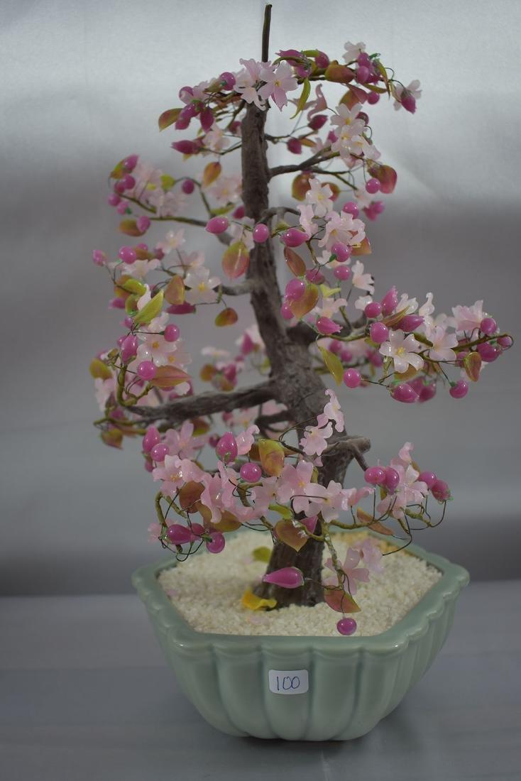 A Fine Pink Floral Asian Bonsai Tree - 5