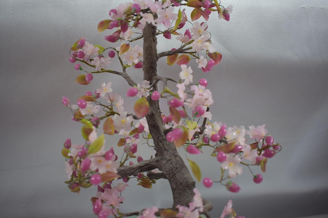 A Fine Pink Floral Asian Bonsai Tree - 6