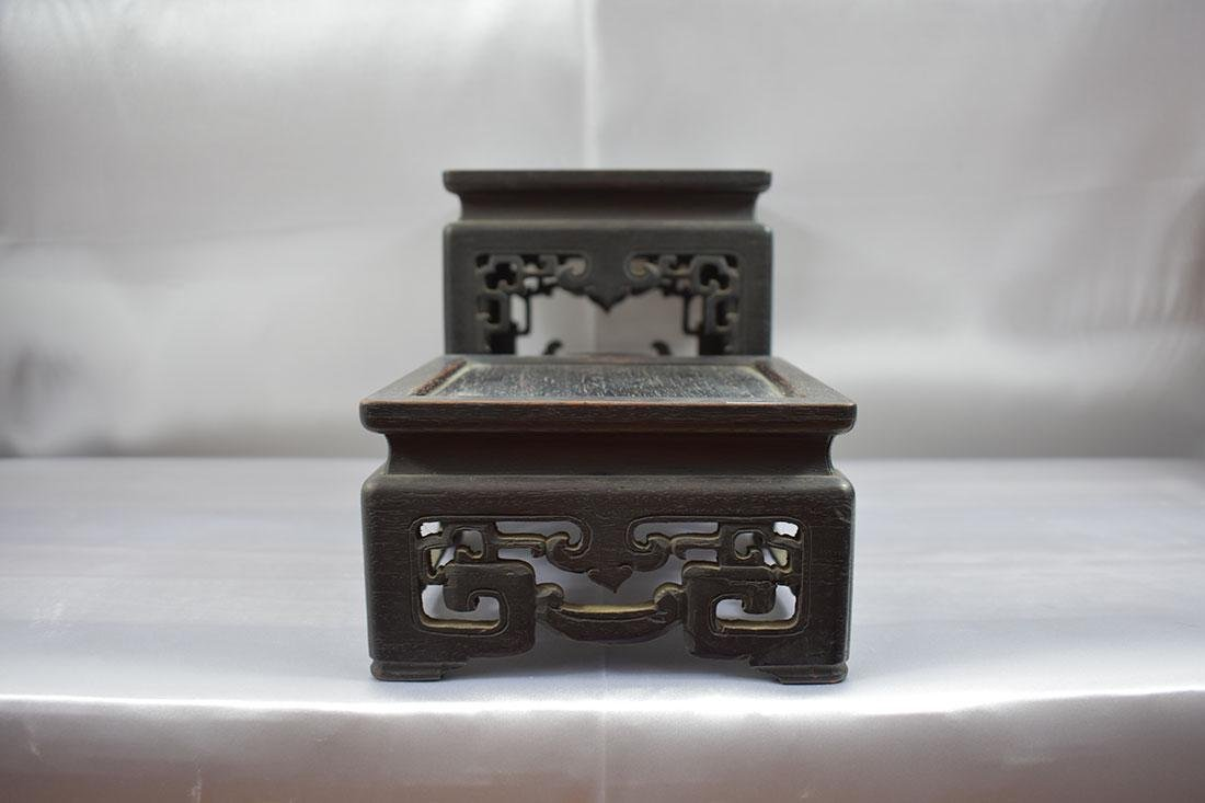 Antique Chinese Hardwood Stand - 2